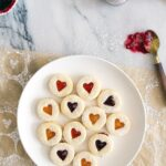 Mini Linzer Cookies (with Boozy Jam)