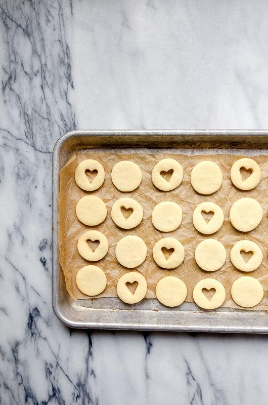Mini Heart Linzer Cookies