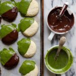 Black and Matcha Cookies