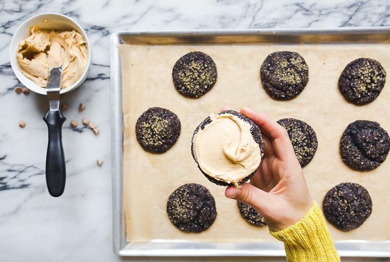 Caramel Chocolate Cookies. Small batch cookie recipe