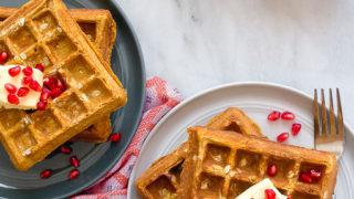 Pumpkin Waffles (for baby)