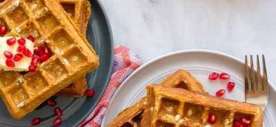 Pumpkin Whole Wheat Waffles