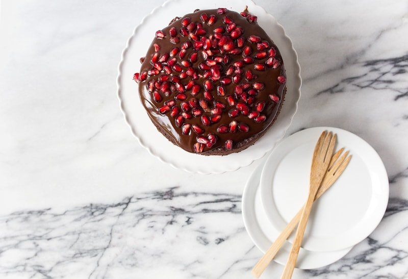 """Mini chocolate cake for two people in a 6"""" cake pan. Dessert for Two"""