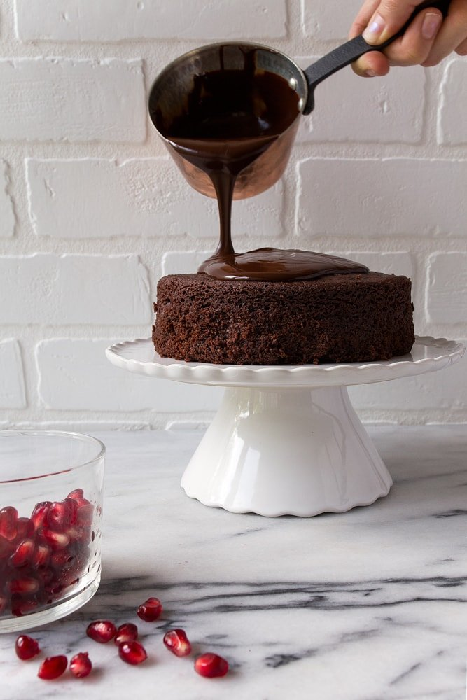 Chocolate Cake for Two! Perfect Valentine's Day dessert for two
