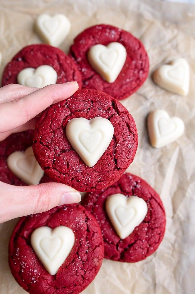 Red Velvet Sugar Cookies | Valentine's Day Dessert Recipes