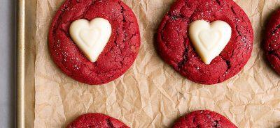 Red Velvet dessert for Valentine's Day: red velvet sugar cookies.