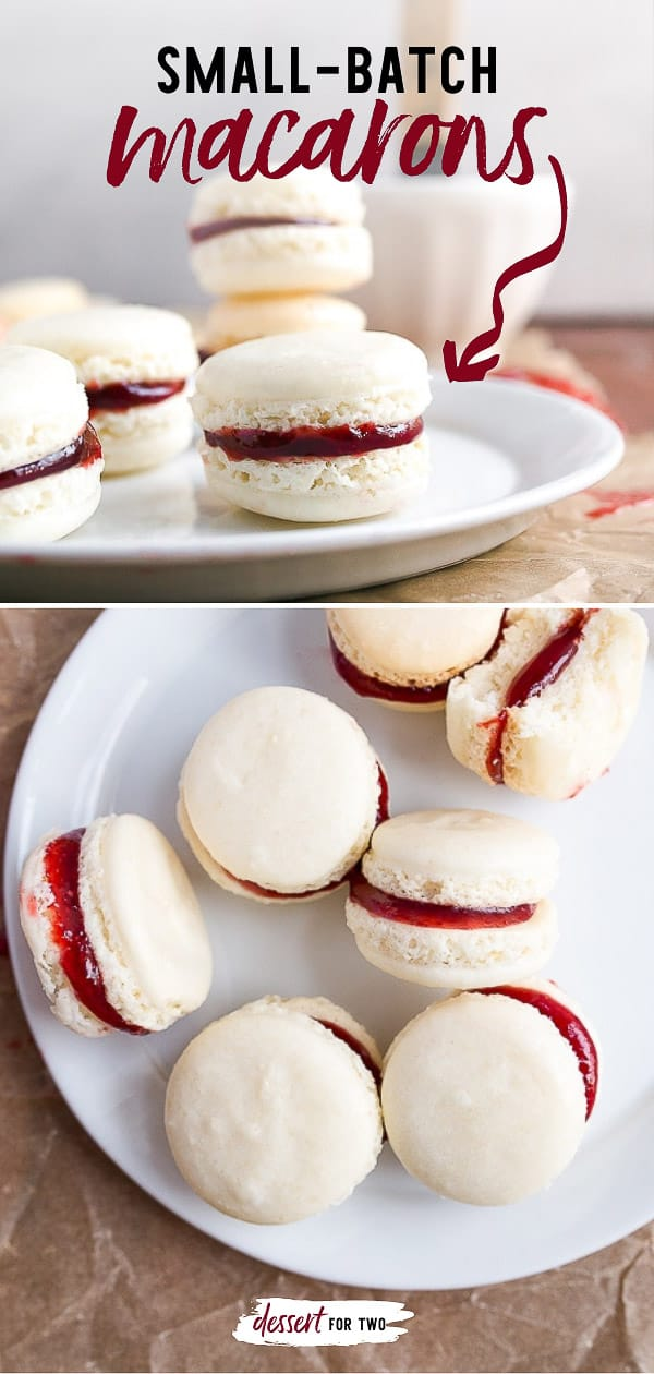 French macarons, no fail! A small batch of French macarons made with a secret ingredient from a pastry chef for perfect results, every time!