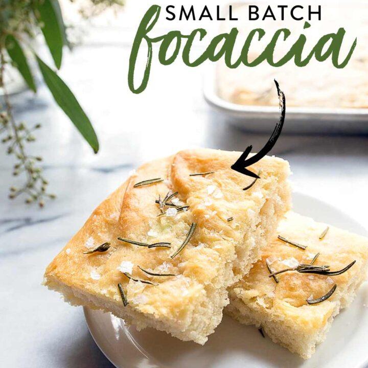 Rosemary Focaccia Bread Small Batch Recipe Dessert For Two