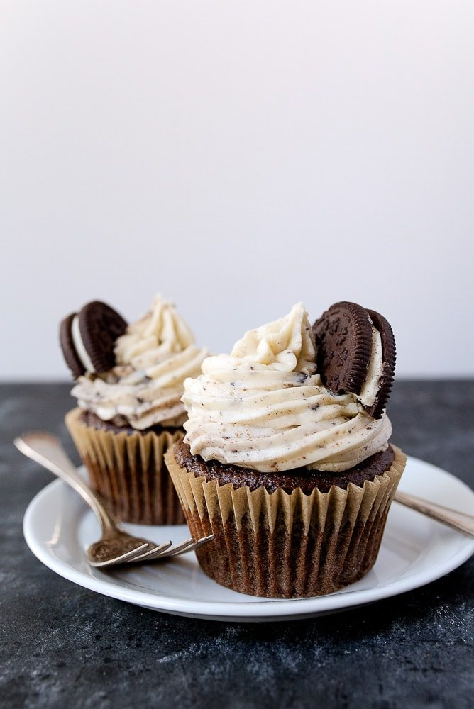 Small Batch Oreo Cupcakes for Two