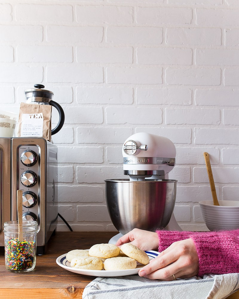 Frosted Sugar Cookies recipe with sprinkles