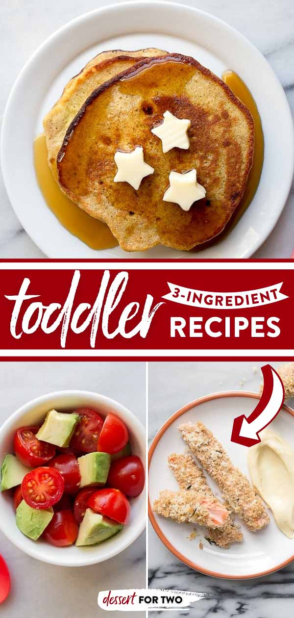 3 ingredient banana pancakes, plus more toddler recipes ideas! Easy homemade kid food, perfect for babies and toddler meal ideas. #kidfood #babyfood #banana #bananapancakes #toddlerrecipes #toddlerideas