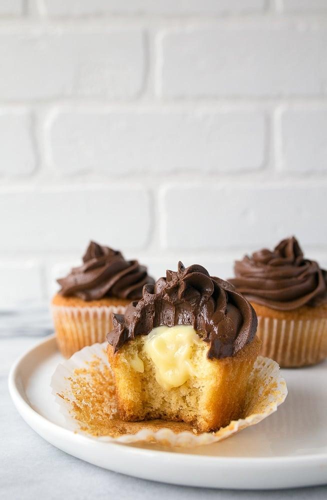 Boston Cream Pie Cupcakes Small Batch Recipe