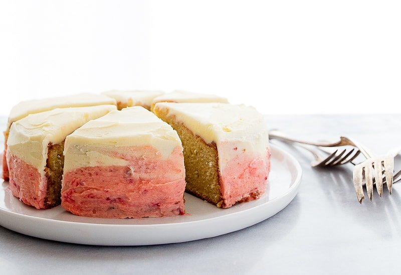 Mini ombre cake for two.