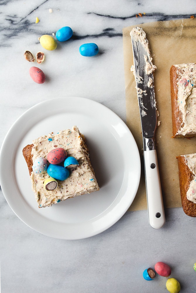 Robin Eggs Blondie Bars with Frosting