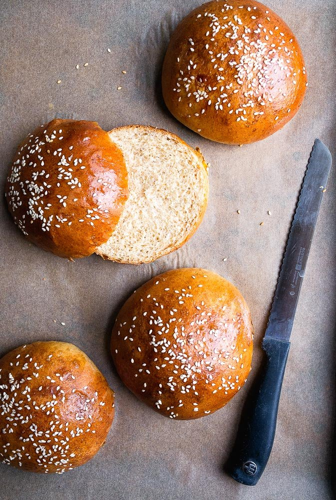 Brioche Bun Recipe for Homemade Hamburger Buns from Scratch