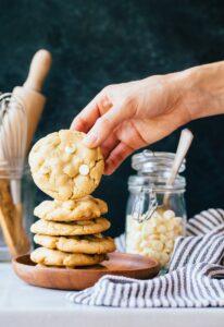 Small Batch White Chocolate Macadamia Nut Cookies