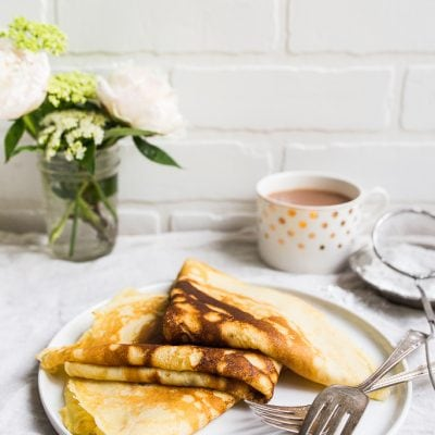 Crepe recipe for two people. Small batch crepes for two.