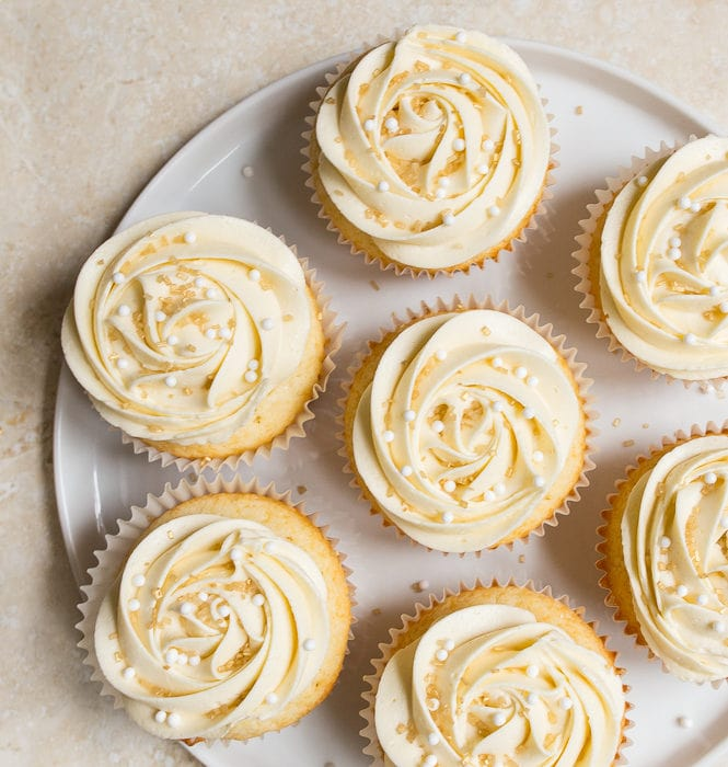 Wedding cake cupcakes, small batch cupcakes for two.