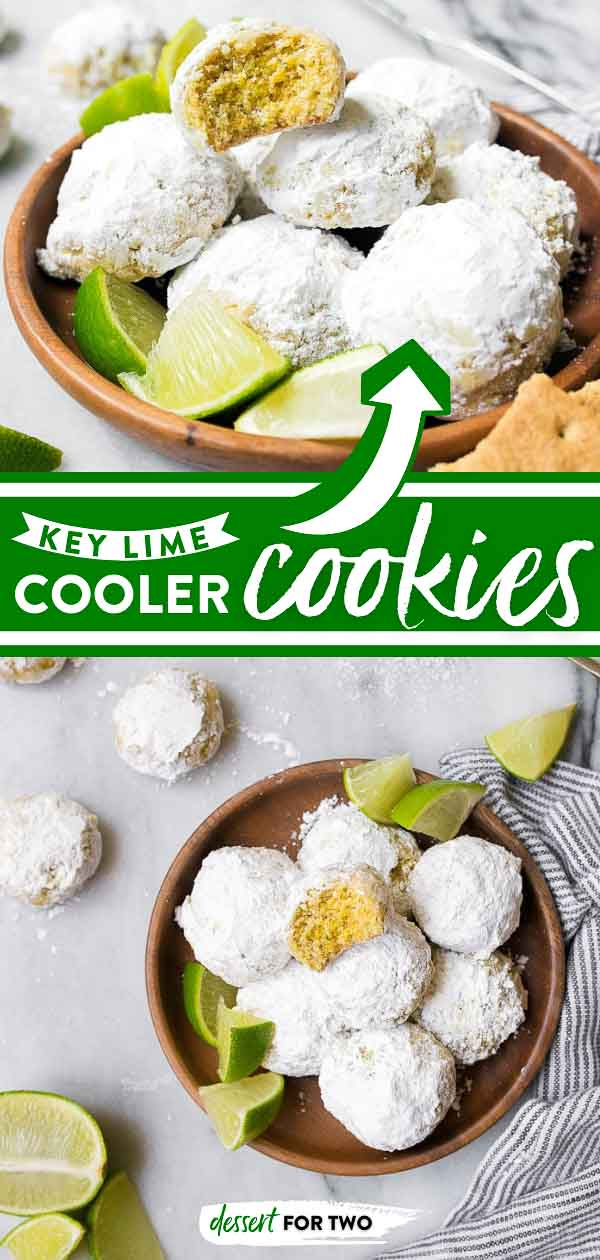 Key lime cooler cookies with limes and graham crackers.