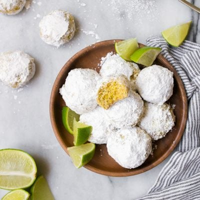 Key Lime Cooler Cookies, made with key lime zest.