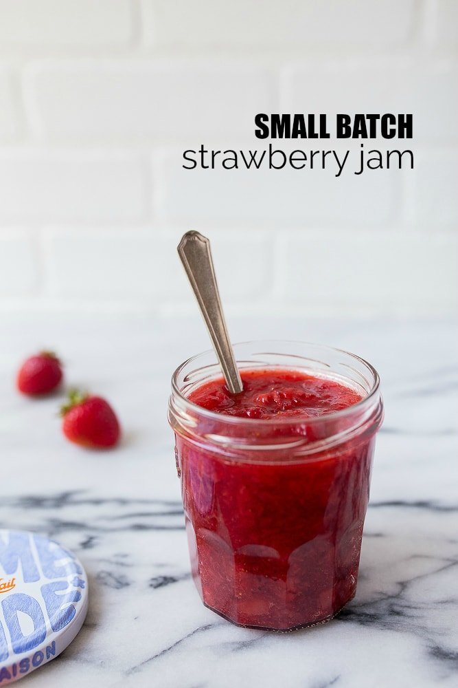 Small Batch Jam Recipe: small batch strawberry jam makes 1 pint of jam. Cooking for one