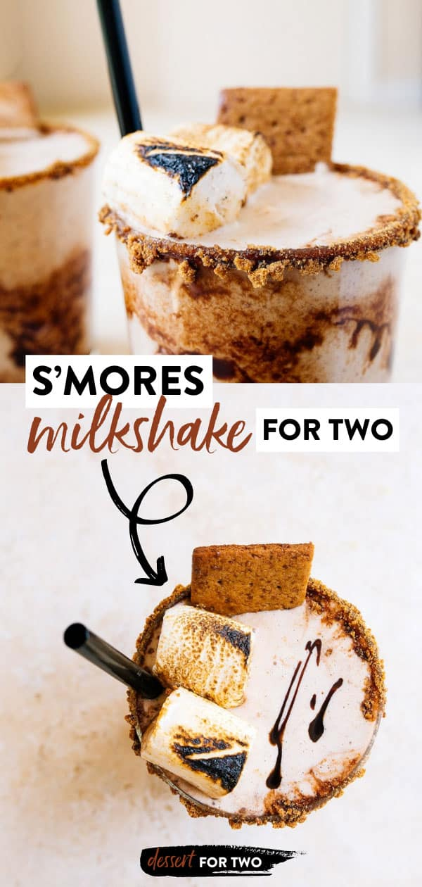 Smores ice cream milk shake.