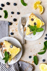 Lemon Blueberry Cheesecake for two