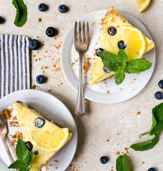 Lemon Blueberry Cheesecake for Two.