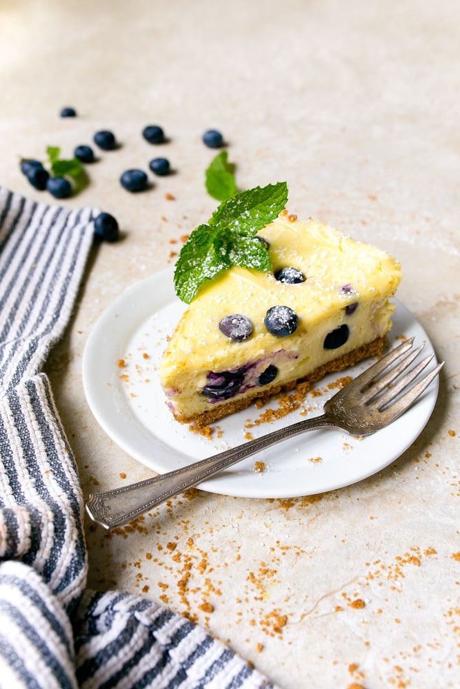 Lemon Blueberry Cheesecake Bars Recipe for two