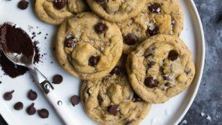 Salty Vanilla Bean Espresso Chocolate Chip Cookies