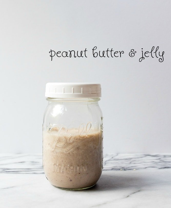 Peanut Butter and Jelly Smoothie for Kids. Protein smoothies for kids