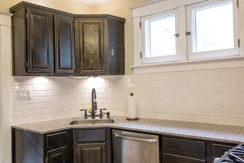 Quick Kitchen Reno with Before and After photos of a small kitchen