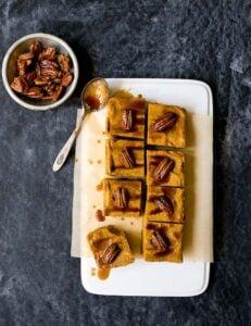 Vegan Pumpkin Cheesecake Bars (no bake)