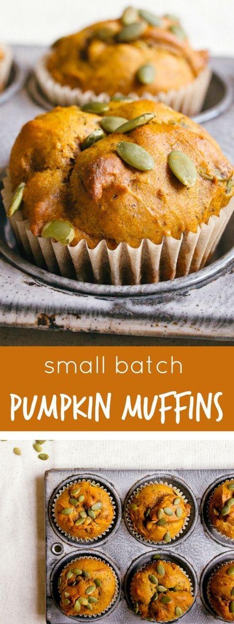 Vegan pumpkin muffins, small batch style!
