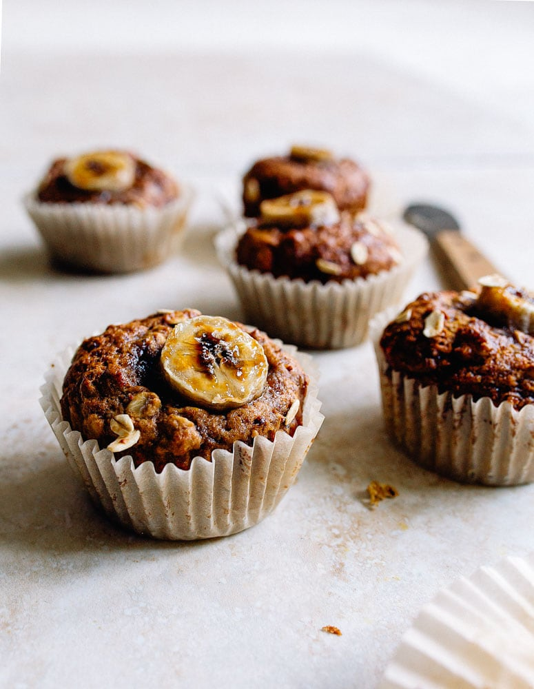 Small Batch Vegan Banana Muffins Recipe