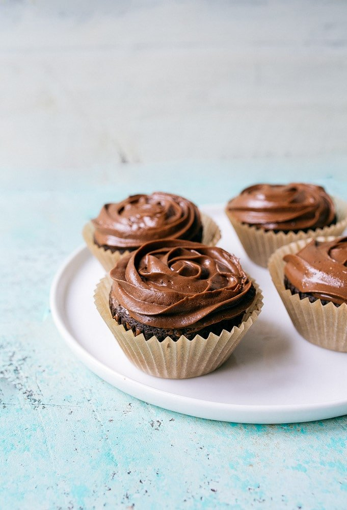 Small Batch Vegan Chocolate Cupcakes for Two