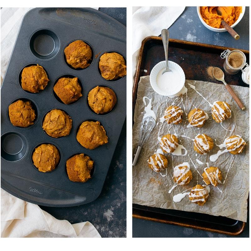 Mini Pumpkin Cakes with Thick Glaze. Small batch pumpkin mini cakes.