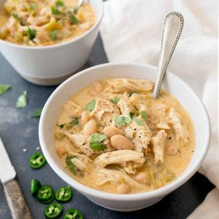 White Chicken Chili for Two. Easy chicken chili recipe, small bach chili recipe serves two.