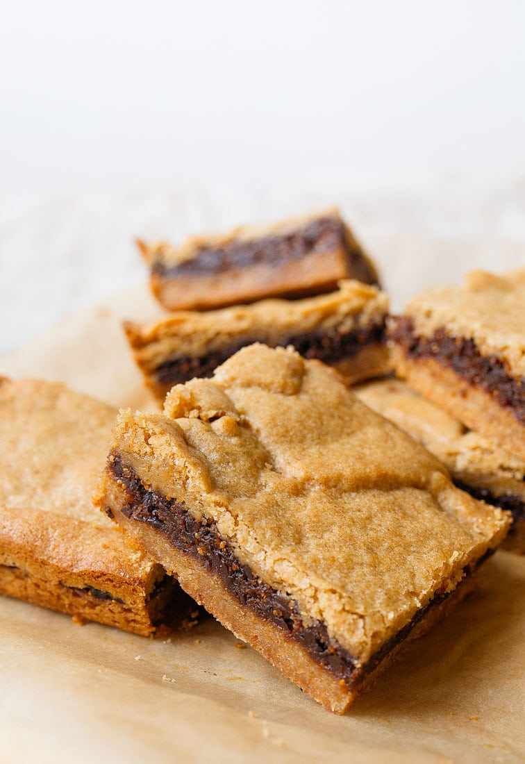 Homemade Fig Newtons Recipe: better than store-bought. Made with whole wheat flour and dried figs, these are a healthy kid friendly snacks and healthy cookies.