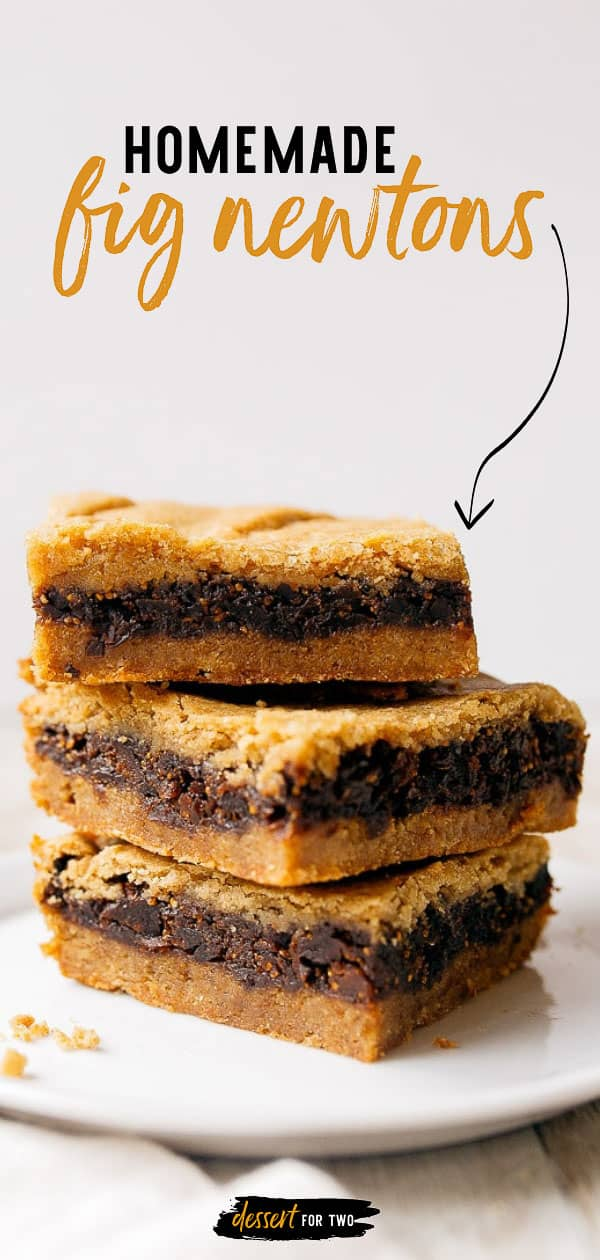 Homemade fig newtons from scratch! Easy fig newtons bars at home. #fignewton #cookies #fig #driedfig