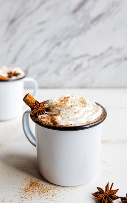 Chai Hot Chocolate: chai latte with chocolate!