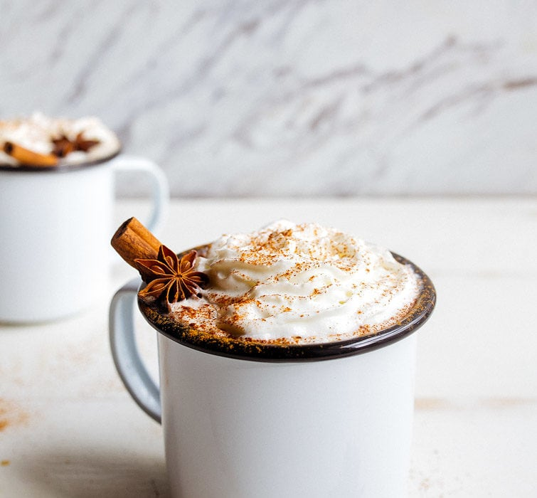 Chai Hot Chocolate: chai latte with chocolate!