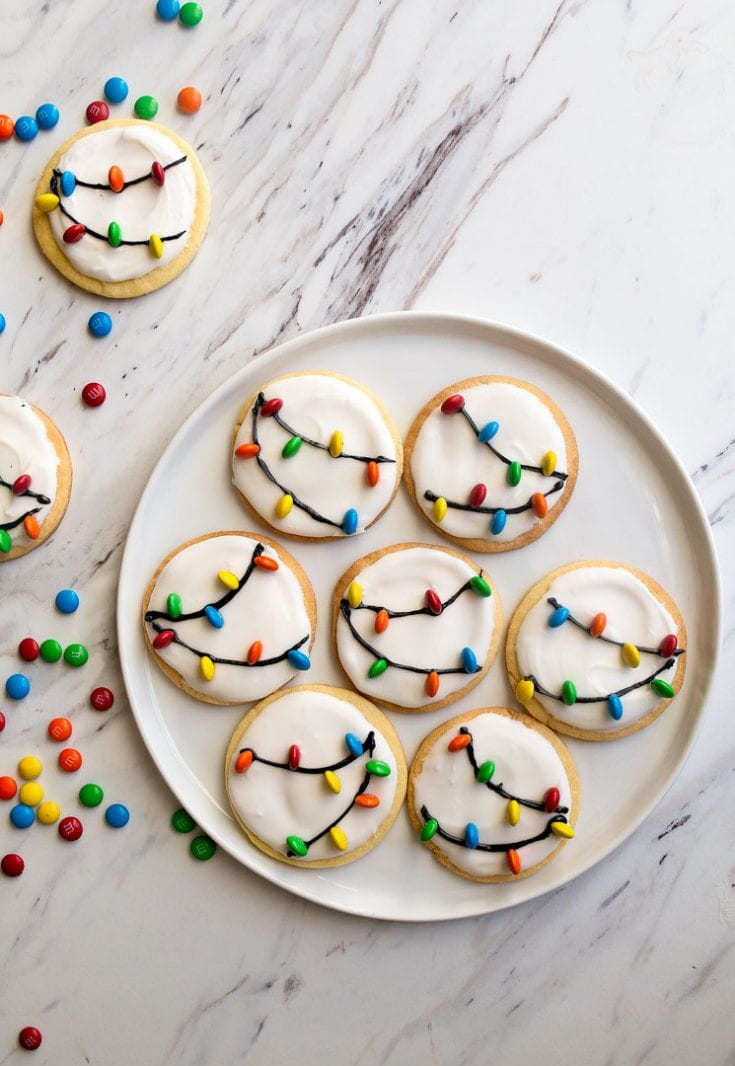 Christmas Lights Cookies with Royal Icing | Dessert for Two