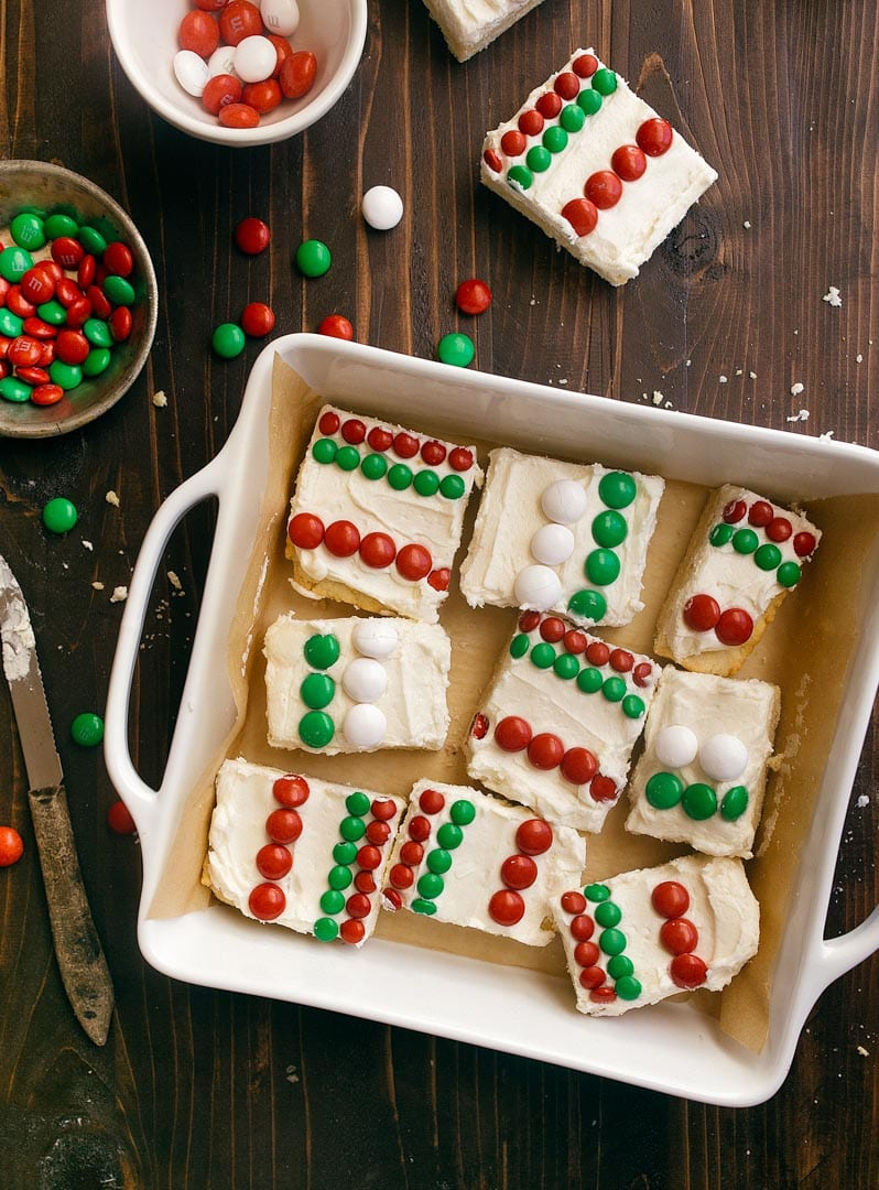 Christmas Sugar Cookie Bars Recipe Dessert For Two