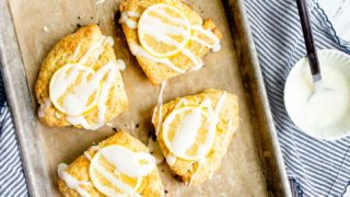 Small Batch Meyer Lemon Scones