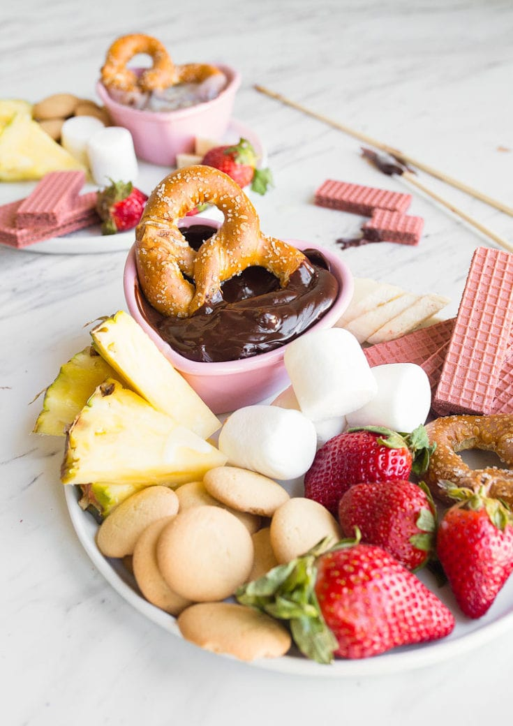 Easy Chocolate Fondue For Two Recipe Dessert For Two