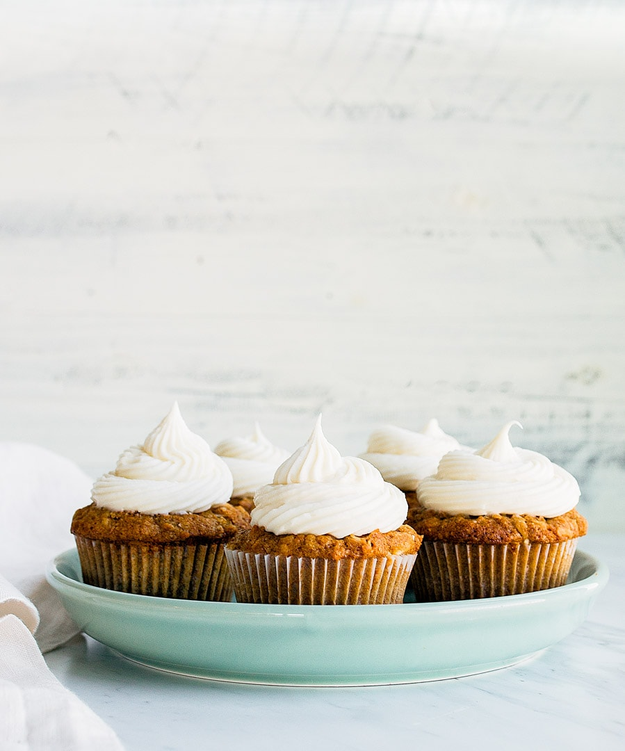 Carrot Cake Cupcakes with Cream Cheese Frosting. Small batch carrot cake recipe makes just 6 cupcakes.