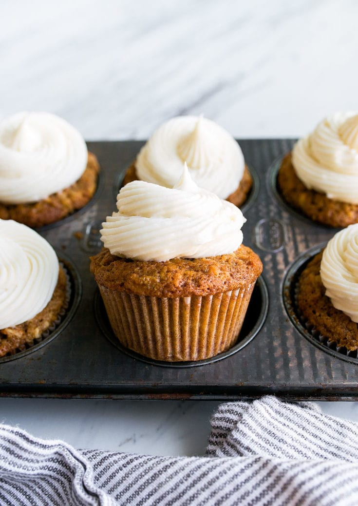Carrot Cake Cupcakes With Cream Cheese Frosting Small