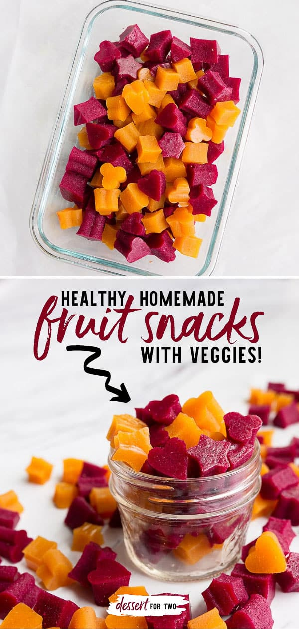 Healthy homemade fruit snacks! Healthy fruit and veggie snacks for kids after school snack ideas. Lunch box ideas with hidden veggies. Grass fed gelatin fruit snacks for kids.