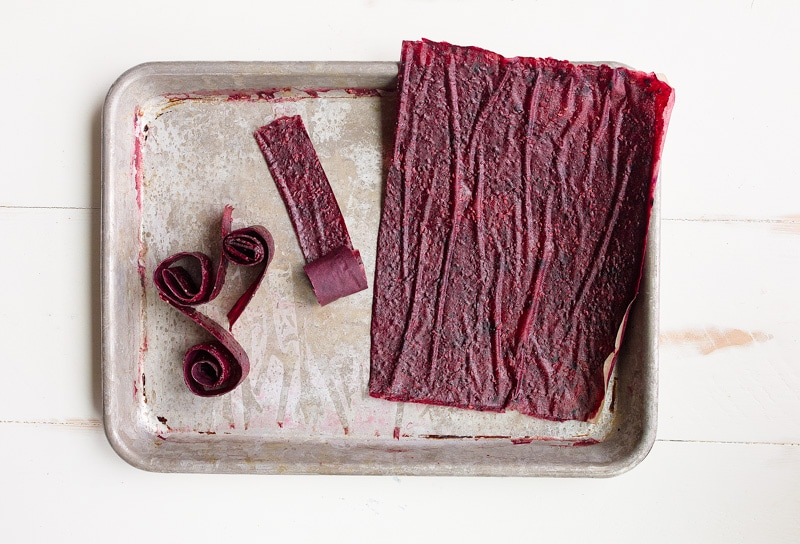 Two Ingredient Homemade Fruit Leathers